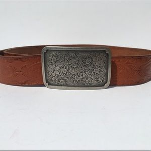 Fossil Boho Genuine Leather Brown Belt Small
